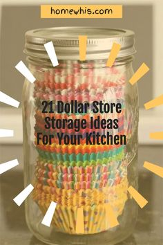 Here are 21 organization ideas to organize your whole kitchen with a single trip to the dollar store! These Dollar Store organization ideas will declutter your kitchen, increase storage space, keep everything perfectly organized and will save you lots of money! How to organize under the kitchen sink, kitchen cabinet, pantry, countertop, fridge are included! Visit the post to learn how! #homewhis #dollarstore #dollarstoreorganization #kitchenorganization #cabinetorganization Chest Freezer Organization, Under Kitchen Sink Organization, Storage Hacks, Organization Hacks, Cupcake Liner Storage, Declutter, Organize, Spice Bottles, Storage Baskets