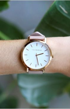 The Horse Original Rose Gold Blush Leather Watch