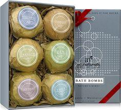 Art Naturals Bombes de Bain Coffret cadeau - 6 bombes de bain luxuriantes, effervescentes, à l'huile essentielle - Ingrédients naturels et…
