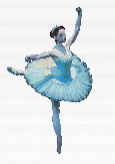 Cross Stitch   Blue Ballerina xstitch Chart   Design