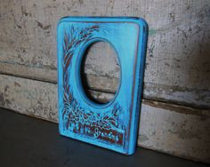 Love You Grandma Picture Frame Wood Painted by turquoiserollerset, $10.00