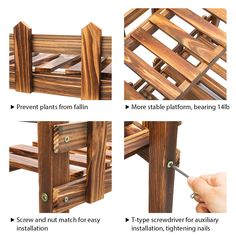 TOOCA Plant Stand Wood Indoor >>> (paid link) Click image to review more details. Gardening Tools, Plant, Indoor, Amazon, Wood, Check, Image, Home Decor, Interior