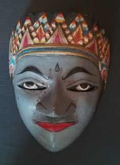 Wooden Java Mask in my collection - Jane Bredendick 2015