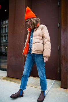 How to Never Carry a Bag in the Winter: An Aggressive Pocket Experiment Outfits With Hats, Winter Outfits, Look Street Style, Denim Coat, Vintage Jeans, Sweater Weather, Get Dressed, Autumn Winter Fashion, Dame