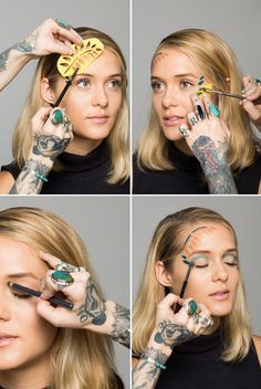 matisse inspired makeup tutorial for an easy halloween costume