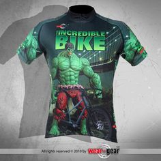 The Incredible Hulk! Incredible Bike cycling jersey