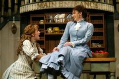 "Sarah Uriarte Berry as Magnolia and Lesli Margherita as Julie perform ""Can't Help Lovin' Dat Man"" in ""Show Boat"" at the Goodspeed Opera Hous. Show Boat, Boat Design, Musical Theatre, Costume Design, Magnolia, Berry, Opera, Period, Musicals"