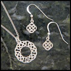 Celtic Josephine's Knot Pendant and Earring Set