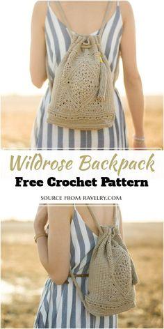 Easy Crochet, Crochet Hooks, Free Crochet, Knit Crochet, Crochet Accessories, Handmade Accessories, Crochet Designs, Crochet Patterns, Crochet Backpack Pattern