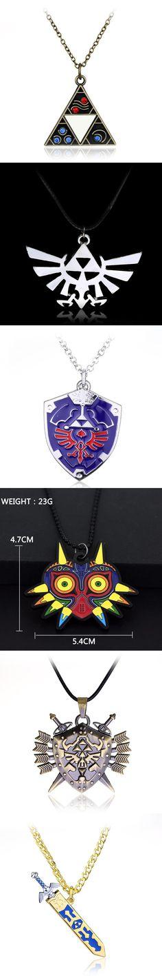The Legend Of Zelda Majora's Mask  Removable Master Sword Logo Necklace pendant game jewelry