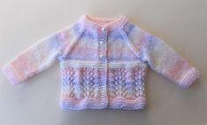 Marianna's Lazy Daisy Days: Wave of Light Baby Cardigan Jacket - Knitting Baby Knitting Patterns Free Newborn, Baby Cardigan Knitting Pattern Free, Pattern Baby, Baby Sweater Patterns, Knitted Baby Cardigan, Knit Baby Sweaters, Baby Pullover Muster, Cardigan Bebe, Crochet Baby Clothes
