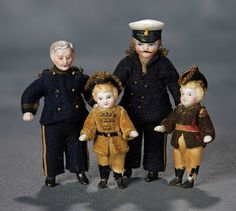 """The Voyage Continues"" - Saturday, January 7, 2017: 70 Four German All-Bisque Dolls Depicting Gentlemen and Boys"