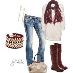 """""""Rock Revival Becky jeans and Ireland boots"""" by shauna-rogers on Polyvore"""