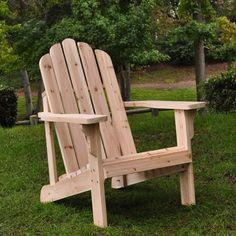 Natural Cedar Wood Adirondack Chair