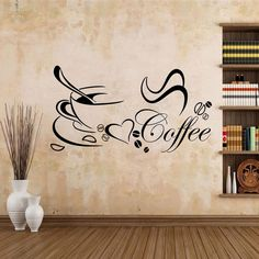 Wandtattoo Kaffee Esszimmer Spruch Mokka Wandaufkleber Küche Café Aufkelber M
