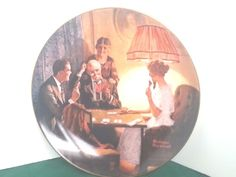 This is the Room Light Made Plate Norman Rockwell Knowles Light Campaign Series…