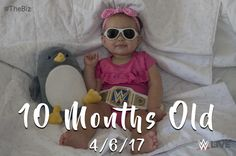 My wife and I theme our daughter's first year monthly pictures. This last month we went to Wrestlemania. Needless to say we were inspired. [Kid Picture] #daddy #love #family #dad #daughter #baby