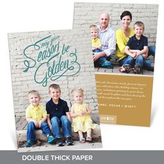 The swirling faux-foil greeting comes in your choice of over 70 solid colors! It's beautiful and compliments many photos! This card is printed on double thick paper making it feel super fancy! #holiday #ChristmasCards #PremiumCards