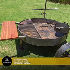 Parrilla Exterior, Fire Pit Grill, Fire Cooking, Outdoor Kitchens, Welding Projects, Ovens, Grilling, Roast, Bbq