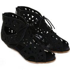 lace cut out sneakers| $20.27  nu goth hipster dark mori kei mori kei grunge fachin flats shoes under30 rosegal free shipping
