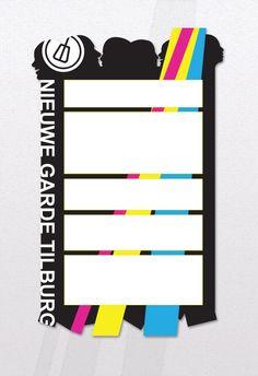 Nieuwsbrief als onderdeel van de nieuwe huisstijl voor Nieuwe Garde Tilburg.  (Designed by Gloed)