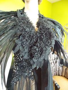 Wedding feather cape steampunk victorian by RetroVintageWeddings, $229.00