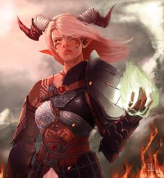 Inquisitor Adaar by QuizzicalKisses female tiefling demon devil monster sorcerer…