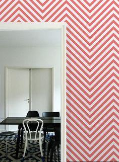 "Herringbone- self adhesive DIY wallpaper, home decor,  interior wall art design, pattern art  20.9""x8' - t023"