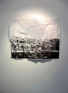 """""""Paper"""" by Carlos Albalá. Galería Moro. Exposición Biosphere. Santiago de Chile. 2009."""