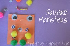 Creative Family Fun: Get Crafty: Square Monsters