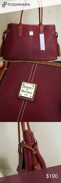 Dooney & Bouke Tyler Shopper Cranberry in color, comes with dust bag. Brand new. Dooney & Bourke Bags Shoulder Bags