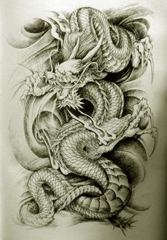 Oriental Dragon Tattoo Designs » Style 10