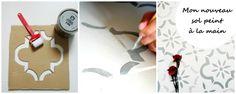 Relooker son sol façon carreaux ciment #Tuto by me - atelier déco des tilleuls
