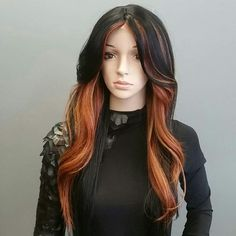 INSTANT COUTURE FASHION SYNTHETIC WIG #28 Sensationnel Instant Couture Fashion Synthetic Wig #28  COLOR HL27  Lace only at the part Sensationnel Other