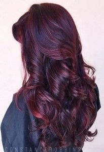 Long Dark Red Hair Look