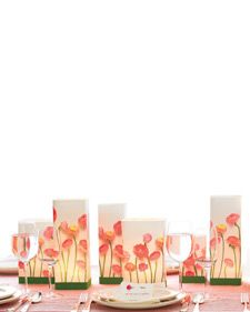 Download our free and easy floral clip art to create different-sized candleholders for a beautiful wedding centerpiece.