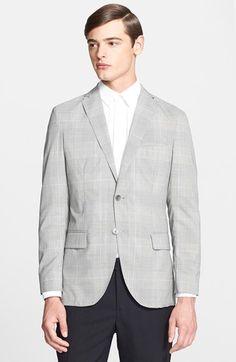 Men's Officine Generale Slim Fit Plaid Wool & Cashmere Sport Coat