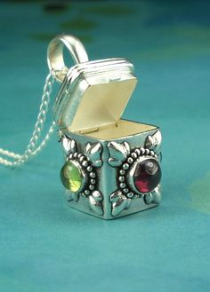 Prayer Box Necklace Sterling Silver With by maidstonelanejewelry, $38.00