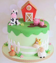 Farm birthday cakes - Little Piggy Modelling Tutorial – Farm birthday cakes Farm Birthday Cakes, Animal Birthday Cakes, Farm Animal Birthday, Birthday Cake Girls, Birthday Party Themes, 2nd Birthday, Birthday Ideas, Barnyard Cake, Farm Cake
