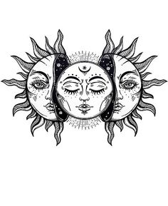 """Vintage Solar Eclipse Sun and Moon"" Poster by MagneticMama, # . - ""Vintage Solar Eclipse Sun and Moon"" poster by MagneticMama, rate - Cute Tattoos, Unique Tattoos, Body Art Tattoos, Awesome Tattoos, Pretty Tattoos, Tatoos, Wing Tattoos, Dream Tattoos, Star Tattoos"