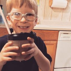 Dylan asked me if he could have dessert tonight!  He decided that he wanted to create a new Shakeology recipe!  Give it a try!  He said Shakeology is soooo good!  -1/2 scoop chocolate Shakeology (kid serving) -1/4 cup frozen pineapple -1/2 banana -1/2 cup plain Kefir -1/4 cup Vanana (banana/vanilla yogurt from Trader Joes) -sprinkle of real maple syrup    #cleaneating #yummy #delish #foodie #toogood #sogood #food #recipe #eatup #healthy #superfood #nutrition #glutenfree #healthyeah…