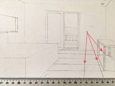 How to draw in perspective. What is linear perspective with one, two or three vanishing points and how to add figures when drawing. Atmospheric perspective and its influence on landscape painting. Pencil Drawings For Beginners, Realistic Drawings, Art Drawings Sketches, Types Of Perspective, Perspective Drawing Lessons, Point Perspective, Basic Drawing, Drawing Tips, Architecture Concept Drawings