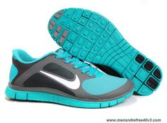 Nike Free 4.0 V3 Mens 579958-013 Midnight Fog White Sport Turquoise Outlet