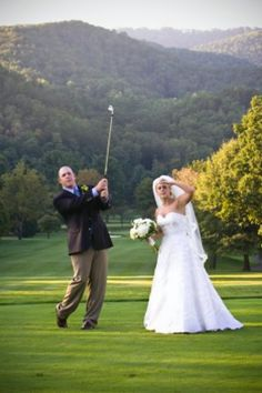 Another clever photo taken on the golf course at The Greenbrier. Photo by Meg Runion from Robert Garland Photography. http://www.greenbrier.com