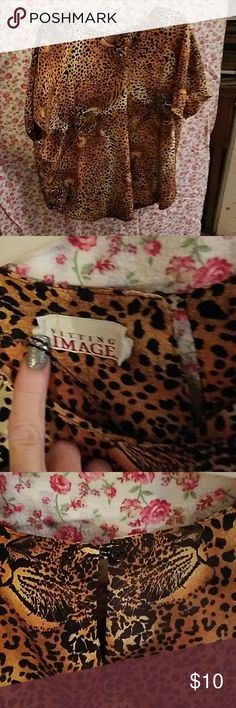 Animal print blouse Brand new condition Fitting Image Tops Blouses