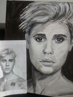 Justin Bieber, my painting