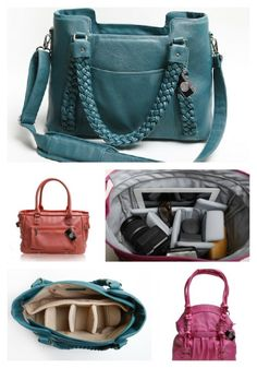 Oh...my...God...I love these camera bags/purses!!!  Yes, a stylish bag to carry your nice camera in!!!  <3 Epiphanie Collage