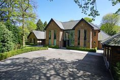 6 bedroom detached house for sale in Fabulous contemporary house in beautiful one acre garden on Leycester Road, Knutsford , WA16 Octagon House, Self Build Houses, Floating Staircase, Indoor Swimming Pools, Best House Plans, White Cottage, Property For Rent, New Home Designs, New Builds