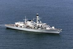 Plymouth-based HMS Argyll (pictured) intercepted the Neustrashimy-class warship and its ac...