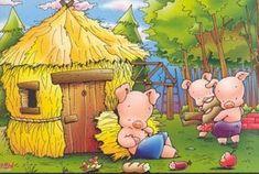 Mis cuentos... tus cuentos... nuestros recuerdos.: Secuencia del Cuento de Los tres cerditos Huff And Puff, Piggly Wiggly, Looney Tunes Cartoons, Three Little Pigs, Nursery Rhymes, Storytelling, Illustration, Fairy Tales, Third